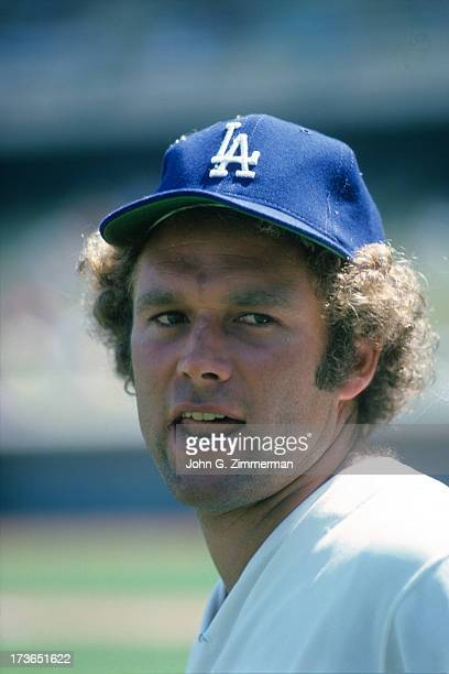 Closeup portrait of Los Angeles Dodgers Andy Messersmith before game vs San Diego Padres at San Diego Stadium San Diego CA CREDIT John G Zimmerman