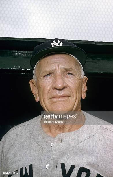 Closeup portrait of New York Yankees manager Casey Stengel during spring training St Petersburg FL 3/5/1956 CREDIT Richard Meek