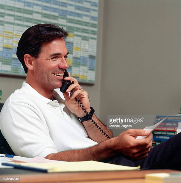 Closeup portrait of Oakland Athletics general manager Billy Beane during photo shoot at Network Associates Coliseum Oakland CA 1/1/20034/21/2003...