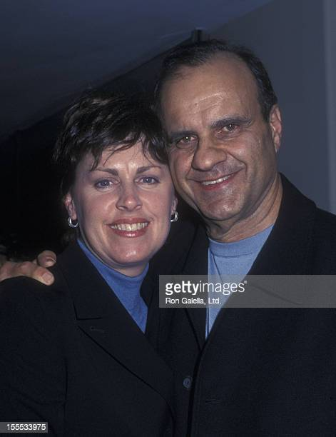 Baseball Coach Joe Torre and wife Alice Wolterman attend the premiere of Sidewalks on November 15 2001 at AMC Theaters in New York City