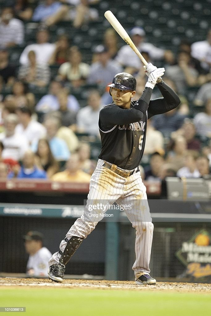 Colorado Rockies Carlos Gonzalez (5) in action, at bat vs Houston Astros. Houston, TX 5/20/2010