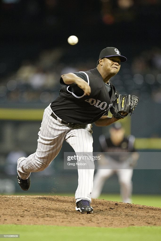 Colorado Rockies Manny Corpas (60) in action, pitching vs Houston Astros. Houston, TX 5/20/2010