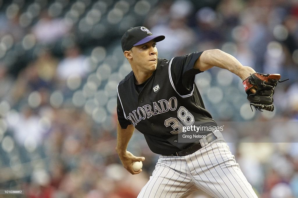 Colorado Rockies Ubaldo Jimenez (38) in action, pitching vs Houston Astros. Houston, TX 5/20/2010