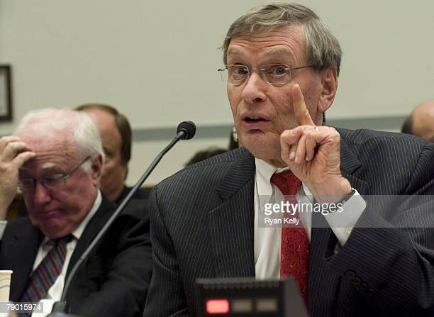 Baseball Commissioner Bud Selig testifies Tuesday before the House Committee on Oversight and Government Reform on the 'Mitchell Report' which...