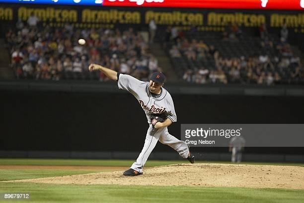 Detroit Tigers Brandon Lyon in action pitching vs Texas Rangers Arlington TX 7/29/2009 CREDIT Greg Nelson