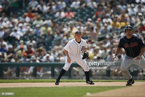 Baseball Detroit Tigers Chris Shelton on field during game vs Cleveland Indians Detroit MI 5/28/2006