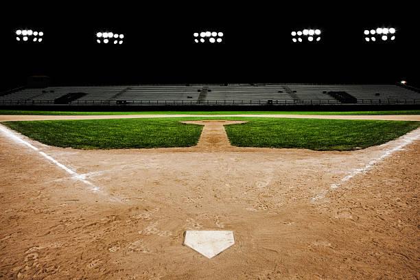 Baseball Diamond At Night Wall Art