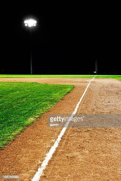 Campo da Baseball a notte