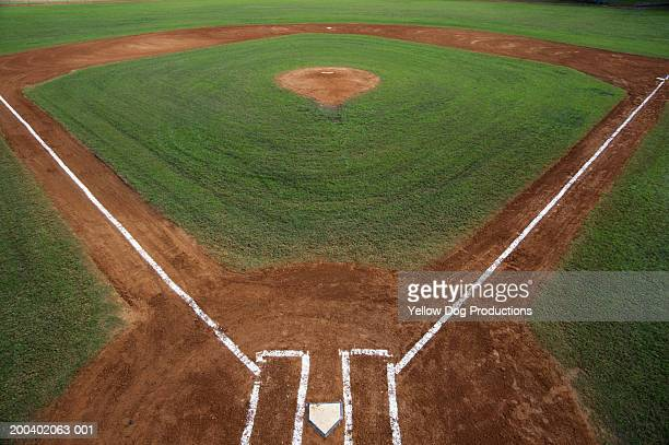Baseball diamond, elevated view