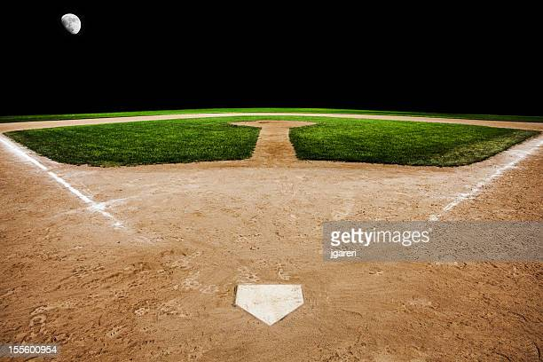 Baseball diamond in the evening