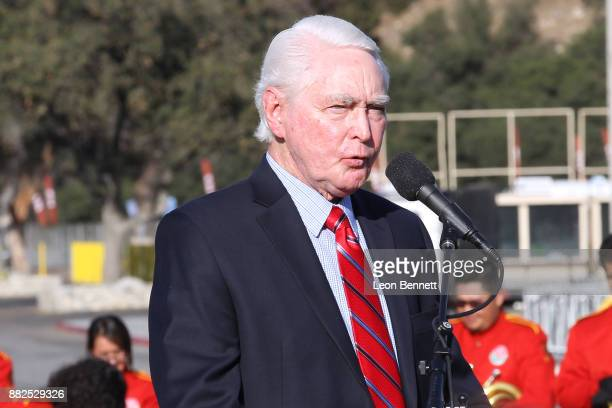 Baseball executive Fred Claire attends as the Rose Bowl Legacy Foundation hosts the dedication of the Jackie Robinson Statue at Rose Bowl on November...