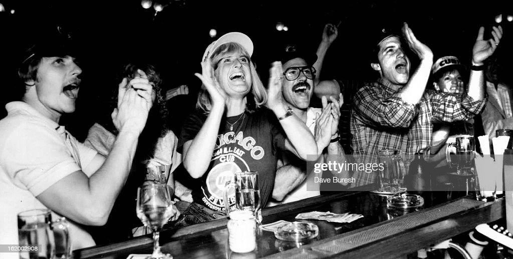 OCT 2 1984, OCT 3 1984; Baseball - Fans; Nancy Nicholas who is stright from Chicago was at the Brook : News Photo