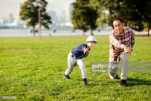 baseball father and son - baseball sport stock pictures, royalty-free photos & images