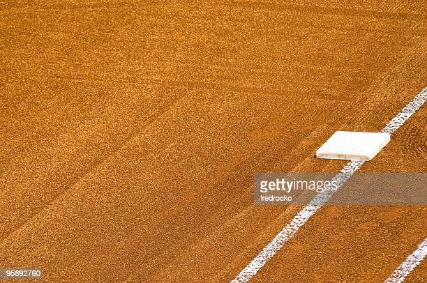baseball field at baseball game - base sports equipment stock pictures, royalty-free photos & images