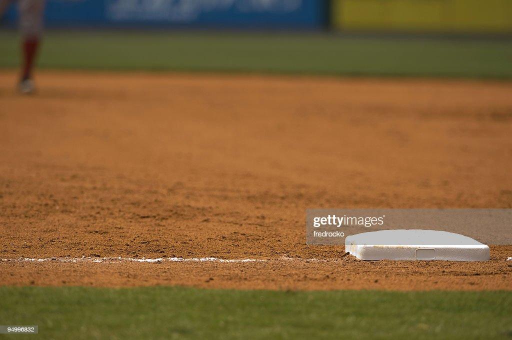 Baseball Field at Baseball Game with Baseball Player : Stock Photo