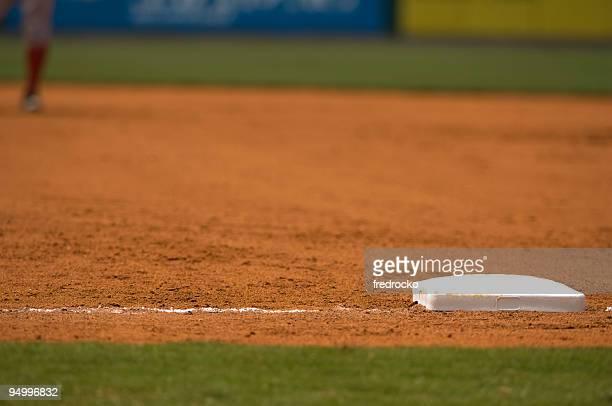 Campo de beisebol com Beisebol jogo com Jogador de basebol