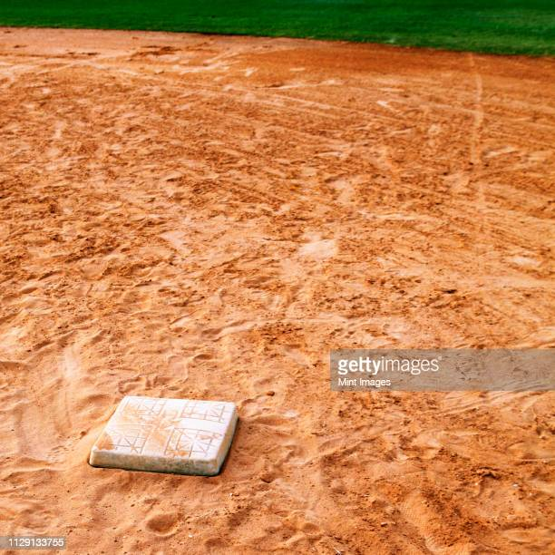 baseball field base - base sports equipment stock pictures, royalty-free photos & images