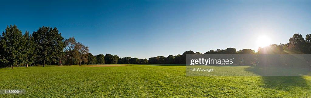 Baseball field dawn Central Park NY : Stock Photo