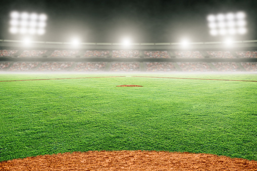 Baseball Field in Outdoor Stadium With Copy Space 1143984948