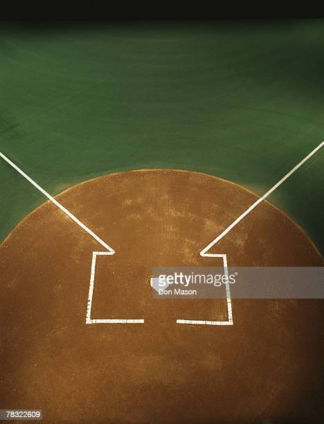 baseball field - home base sports stock pictures, royalty-free photos & images