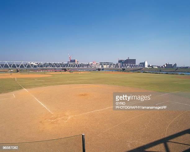 baseball field, tokyo prefecture, honshu, japan - 野球場 ストックフォトと画像