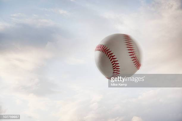 Baseball flying through the air