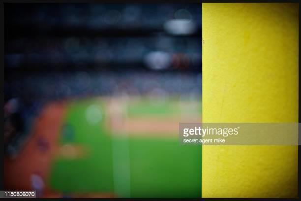 baseball foul pole - baseball stadium stock pictures, royalty-free photos & images