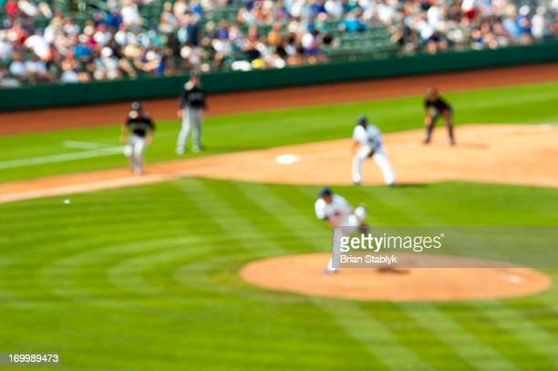 Baseball game, defocused