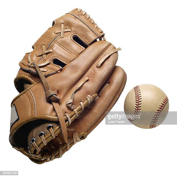 baseball glove and a baseball - baseball glove stock pictures, royalty-free photos & images