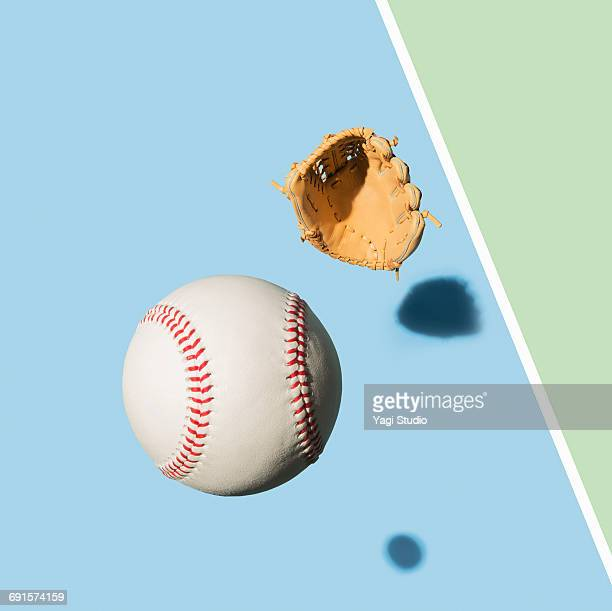 baseball glove and baseball ball - baseball glove stock pictures, royalty-free photos & images