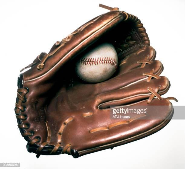 baseball glove on white