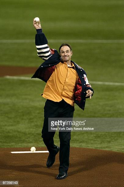 Baseball Hall of Famer Paul Molitor throws out the first pitch during Game 4 of the American League Division Series between the New York Yankees and...