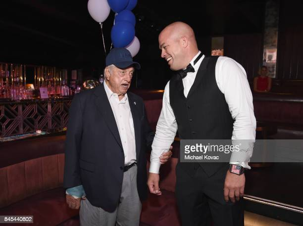 Baseball Hall of Famer Tommy Lasorda and MMA fighter Tito Ortiz at the Heroes for Heroes: Los Angeles Police Memorial Foundation Celebrity Poker...
