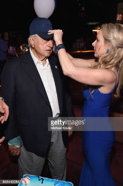 Baseball Hall of Famer Tommy Lasorda and Traci Szymanski at the Heroes for Heroes: Los Angeles Police Memorial Foundation Celebrity Poker Tournament...