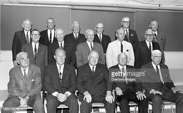 Baseball Hall of Famers Heinie Manush, Red Ruffing, Joe Cronin, Goose Goslin, Lefty Grove; Lloyd Waner, Sam Rice, Zack Wheat, Charlie Gehringer, Pie...