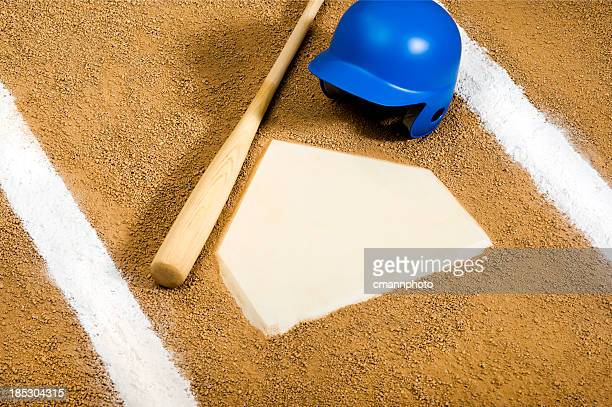 baseball - home plate - home base sports stock pictures, royalty-free photos & images