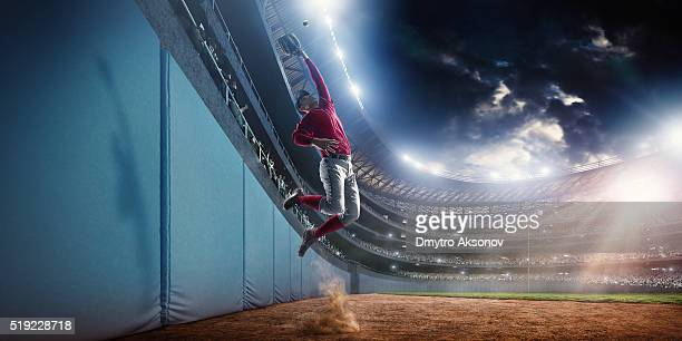 baseball home run catch - baseball player stock pictures, royalty-free photos & images