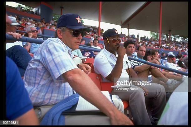 Houston Astros GM Bill Wood Asst GM Bob Watson