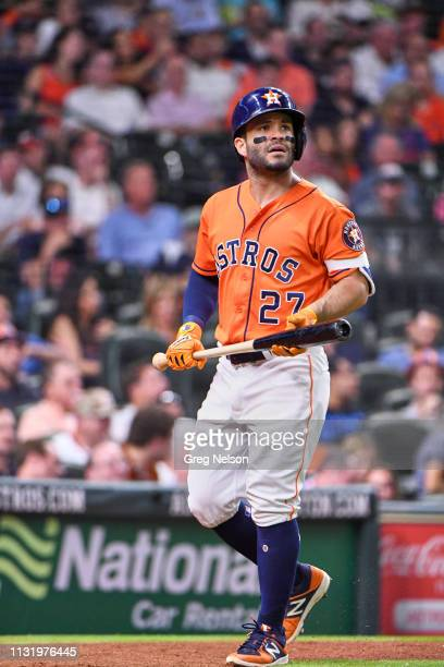 Houston Astros Jose Altuve during at bat vs Cleveland Indians at Minute Maid Park Houston TX CREDIT Greg Nelson