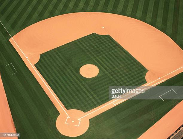Baseball Infield Photographed From an Aerial View.