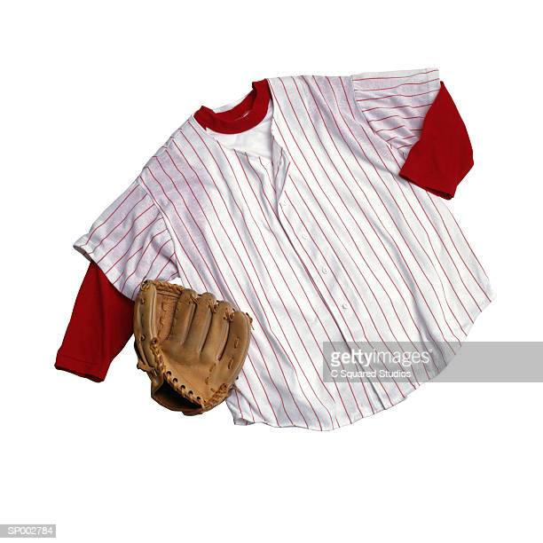 Baseball Jersey and Glove