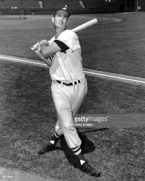 Baseball legend Ted Williams of the Boston Red Sox swings a bat circa 1955 The 83yearold Williams who was the last major league player to bat 400...