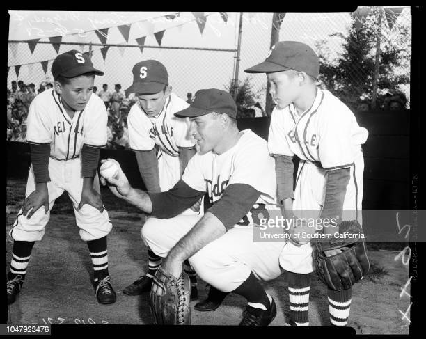 Baseball Little League 8 May 1958 Tel ElmsPhillip RossCharlie NealJerry HarrisJoe PignatanoTony MyersJohn LewisGary McCaskillDon Newcombe 'Sports'...