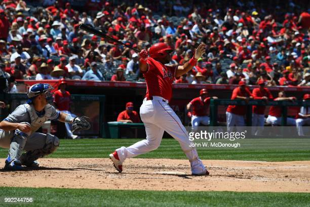 Los Angeles Angels Luis Valbuena in action at bat vs Toronto Blue Jays at Angel Stadium Anaheim CA CREDIT John W McDonough