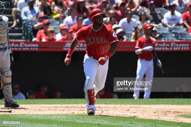 Los Angeles Angels Luis Valbuena in action during game vs Toronto Blue Jays at Angel Stadium Anaheim CA CREDIT John W McDonough