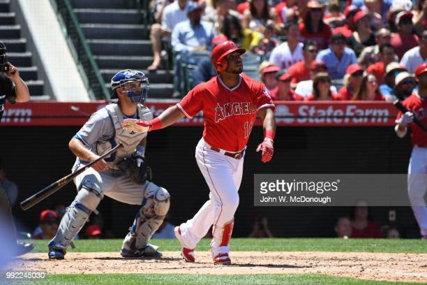 Los Angeles Angels Luis Valbuena in action hitting during game vs Toronto Blue Jays at Angel Stadium Anaheim CA CREDIT John W McDonough