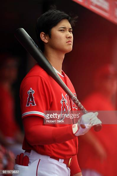 Los Angeles Angels of Anaheim Shohei Ohtani during spring ...