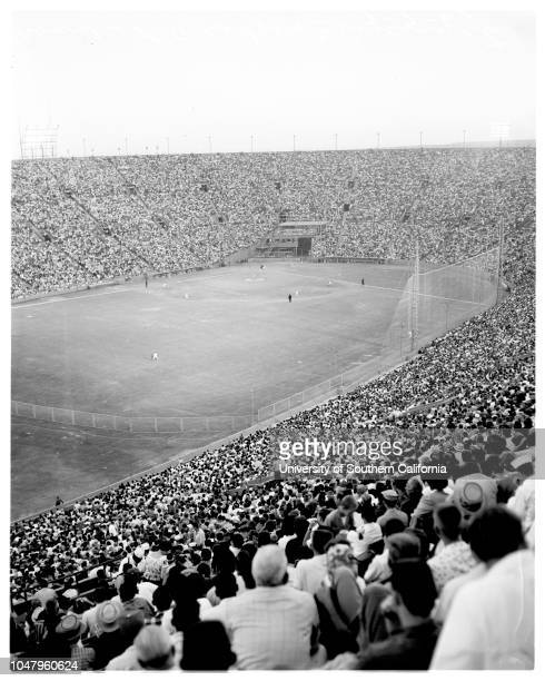 Baseball Los Angeles Dodgers versus Cincinnati 7 July 1961 No caption card