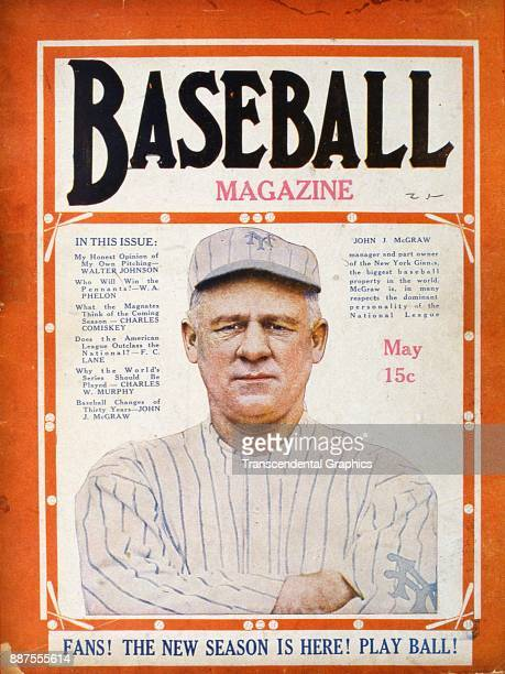 Baseball Magazine features a colorized photo of baseball manager John McGraw of the New York Giants May 1919