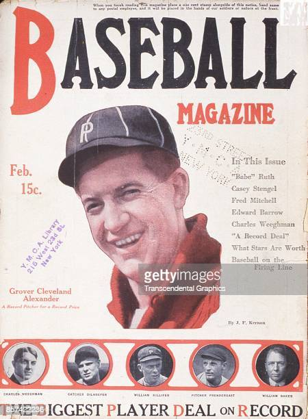 Baseball Magazine features a photograph of Grover Cleveland Alexander February 1918